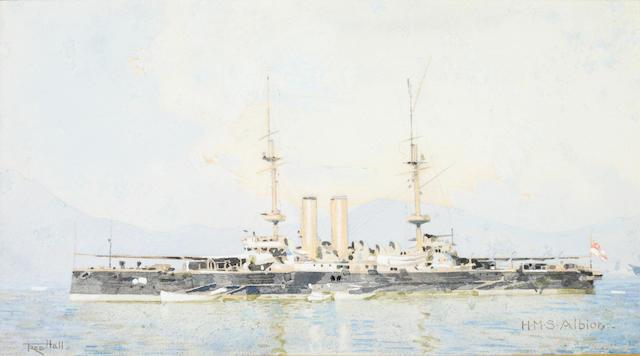 Frederick Hall (British, 1860-1948) H.M.S Albion
