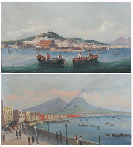 Neapolitan School, Circa 1900 35 x x 60.5cm A pair. (2)