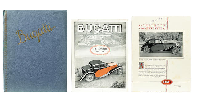 Two Bugatti sales brochures,