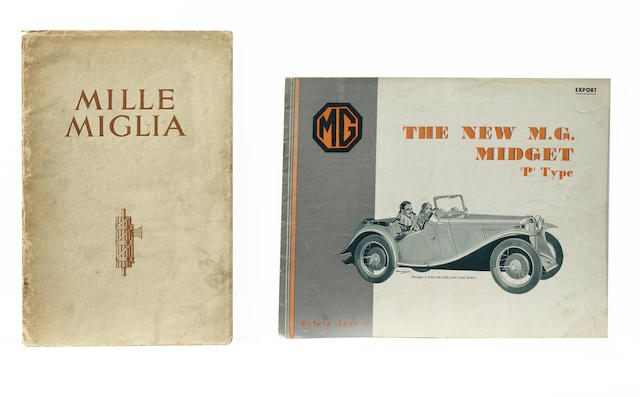 Two scarce MG sales booklets, 1933,