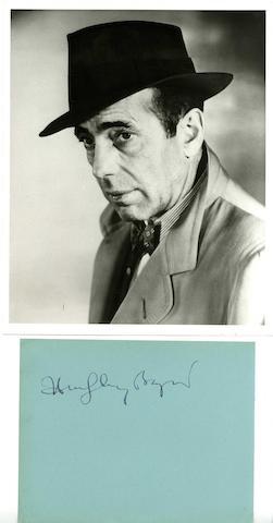 Humphrey Bogart's autograph,