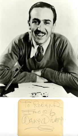 Walt Disney's autograph,