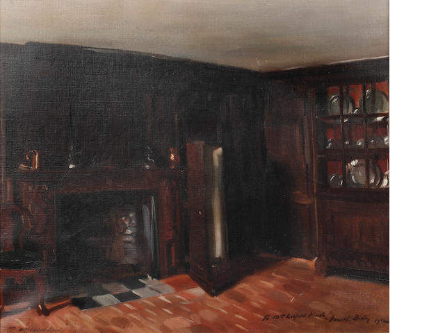 Sir Oswald Birley (British, 1880-1952) Littlecote House - The Oak Room