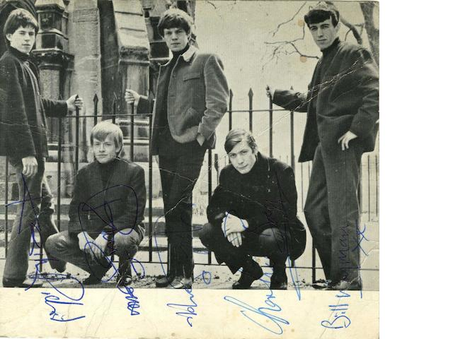An autographed Rolling Stones fan club publicity card, 1963,