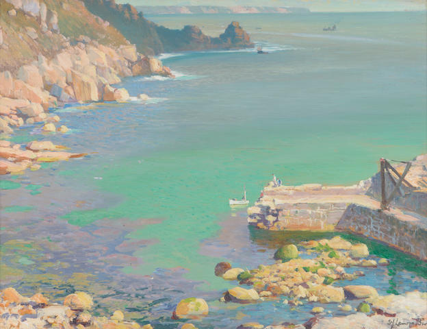 "Samuel John Lamorna Birch, R.A., R.W.S., R.W.A. (British, 1869-1955) ""Lamorna, the sleeping sea"""