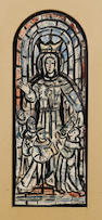 Evie Hone H.R.H.A. (Irish, 1894-1955) Design for stained glass window 41.5 x 16 cm. (16 3/8 x 6 1/4 in.)