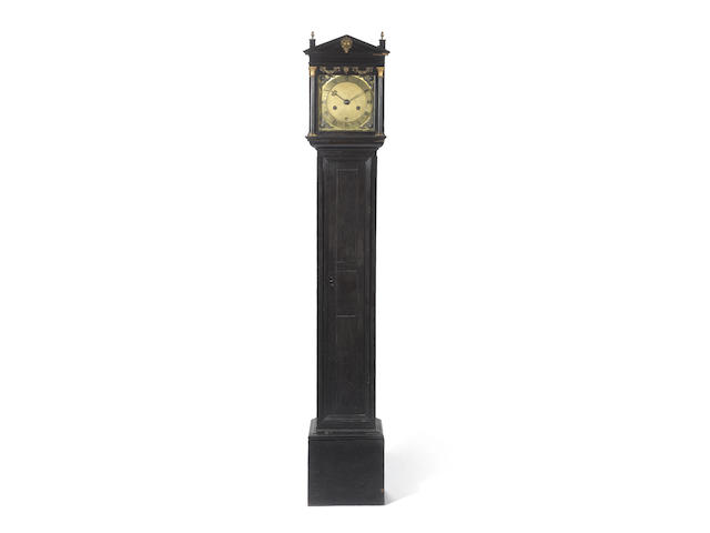 A late 17th Century ebony case longcase clock of small size by Fromanteel, London