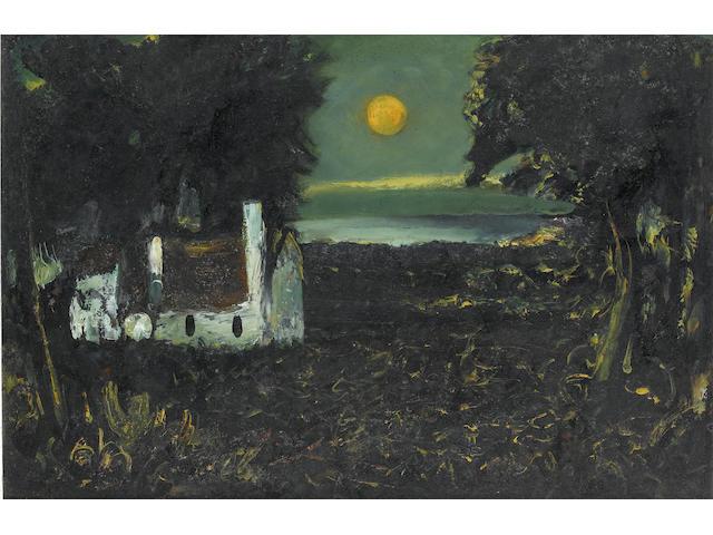 Daniel O'Neill (Irish, 1920-1974) Harvest Moon 36 x 53.5 cm. (14 1/4 x 21 in.)