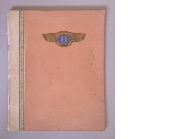 A 6½ litre Bentley sales brochure, October 1928,