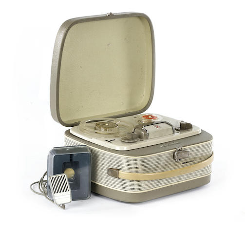A Grundig TK20 reel-to-reel tape recorder used by The Quarrymen, circa 1960,