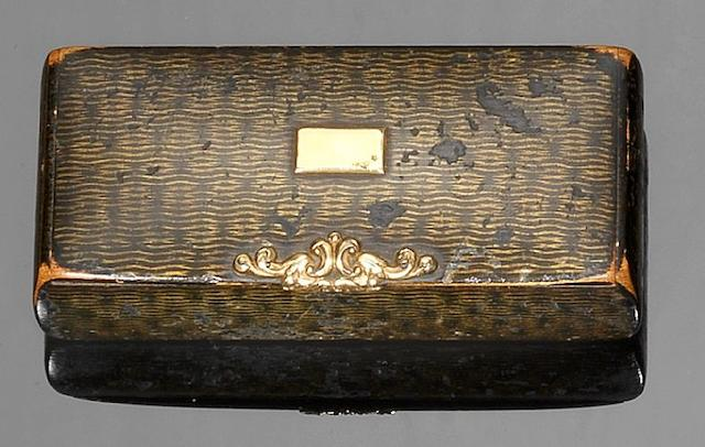 A 19th century Mauchline Scoto-Russian Ware snuff box, by McKerrow, Cumnock,