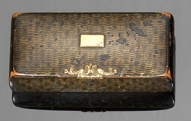 A 19th century Mauchline Scoto-Russian Ware snuff box, by McKerrow, Cumnock,