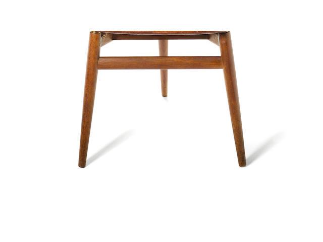Hans Wegner for Johannes Hansen a 'Valet' chair, designed 1953 teak and brass fittings