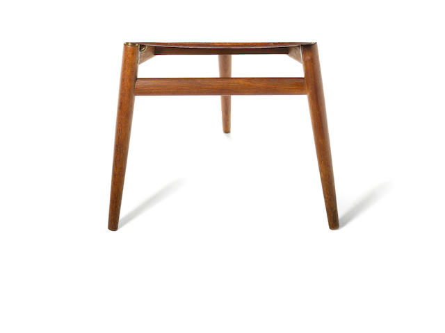 Hans Wegner for Johannes Hansen a 'Valet' chair, designed 1953 teak and brass fittings