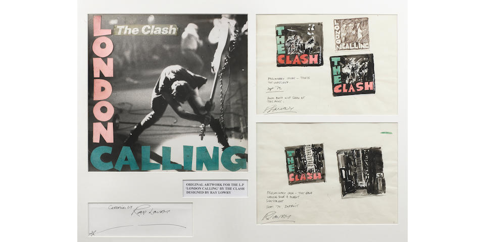 The original album cover artwork by Ray Lowry for 'London Calling' by the Clash,