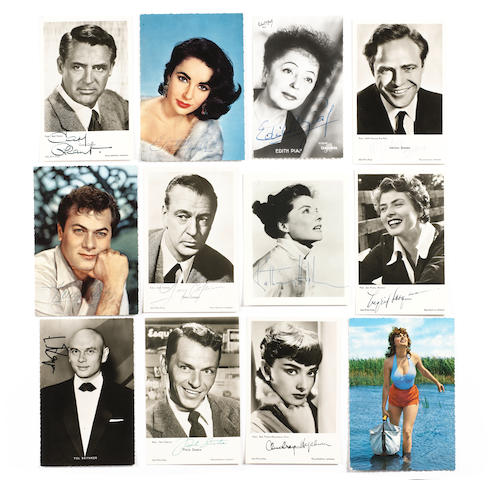 A large collection of autographs, various dates,