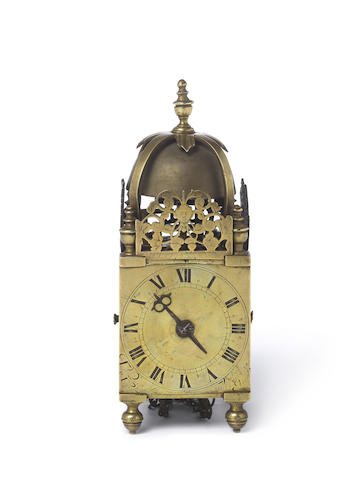 A fine and extremely rare second quarter of the 17th century miniature lantern clock Thomas Pace at the Crown in Fleet Street