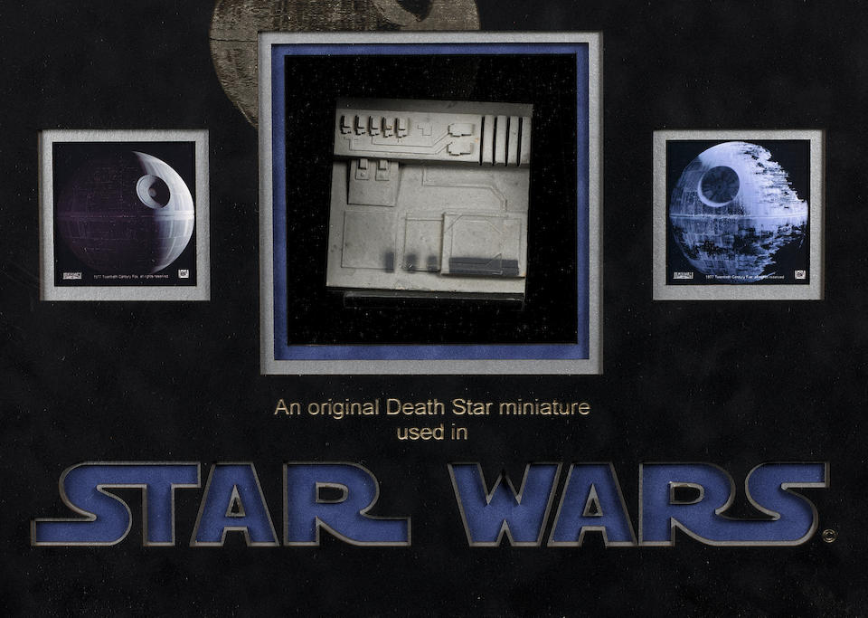 A piece of the Deathstar from Star Wars: A New Hope, 1977,