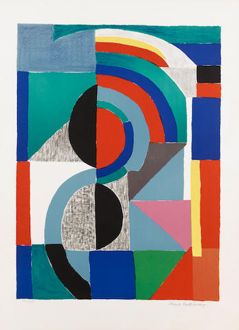 Sonia Delaunay (French, 1885-1979) Icône Lithograph, 1970, printed in colours, on Arches, signed and annotated 'HC  20/25' in pencil, aside from the numbered edition of 75, 767 x 534mm (30 1/5 x 21in)(SH) unframed