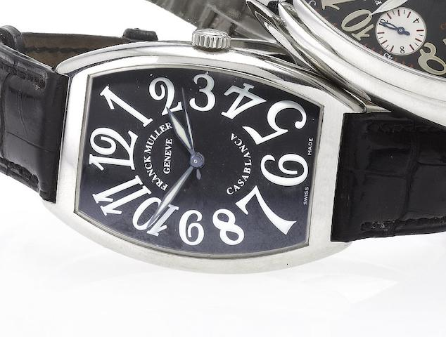 Franck Muller. A stainless steel automatic centre seconds wristwatch Casablanca, Ref:6850, No.150, Recent