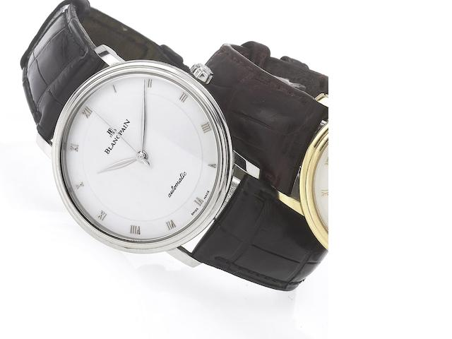 Blancpain. A fine stainless steel automatic centre seconds wristwatch together with fitted presentation box and papers Villeret, No.121, Sold July 30th 2006