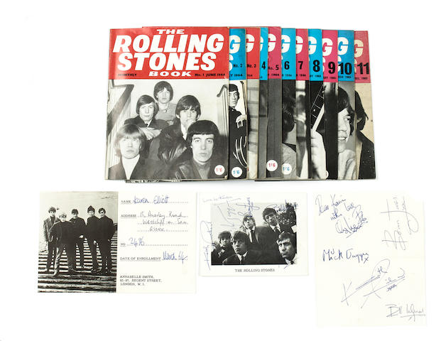 The Rolling Stones: autographs and other items, 1960s,