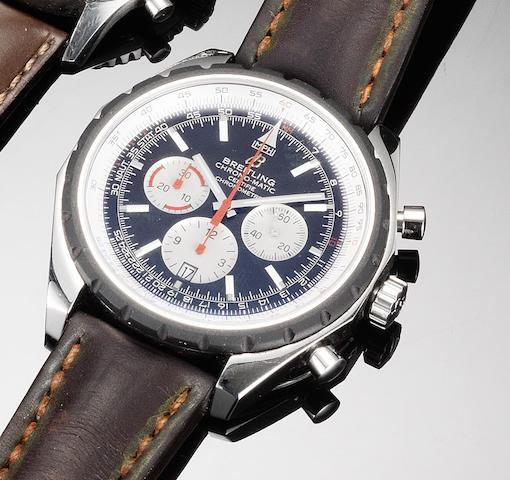 Breitling. An oversized stainless steel automatic chronograph calendar wristwatchChrono-Matic, Recent