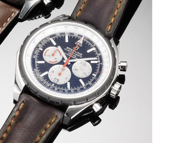 Breitling. An oversized stainless steel automatic chronograph calendar wristwatch Chrono-Matic, Recent