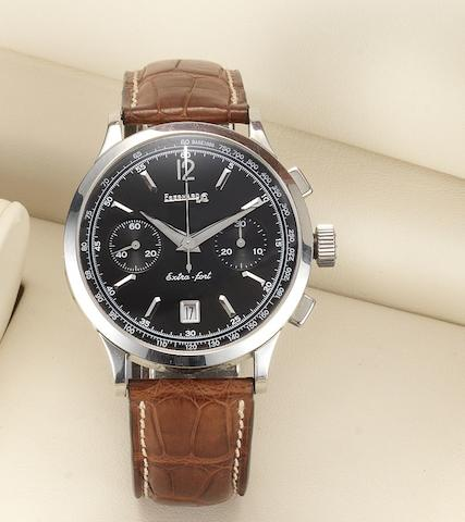 Eberhard & Co. A stainless steel automatic chronograph calendar wristwatch together with fitted box and papers Extra-Fort, Ref:1832, Case No.31951, Sold December 24th 2003