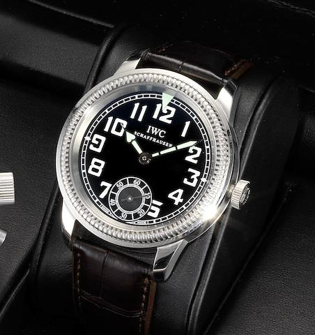 IWC. A stainless steel military style wristwatch together with fitted box  Fliegeruhr, Case No.3385131, Recent