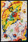 Sam Francis (American, 1923-1994) Abstract Composition Lithograph, printed in colours, on wove, the full sheet, signed and numbered 34/50 in pencil, printed by The Litho Shop Inc, Santa Monica, 1165 x 740mm (45 7/8 x 29 1/8in)(SH) unframed