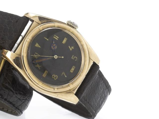 Rolex. A fine 18ct rose gold automatic centre seconds wristwatch Oyster,Bubble Back, Ref:5051, 1940's