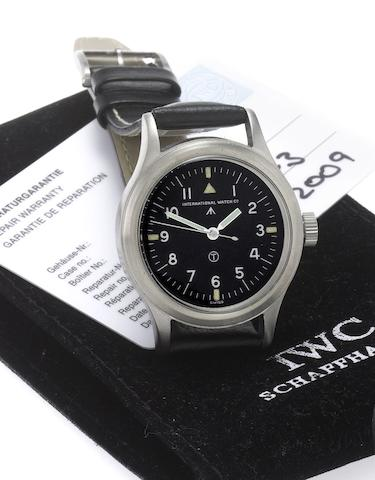 IWC. A fine stainless steel military issue centre seconds wristwatchMark VI, Case No.570/52, Issued in 1952