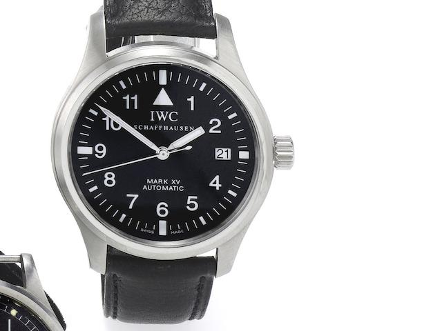 IWC. A fine stainless steel automatic centre seconds calendar wristwatch Mark XV, Ref:3253, Case No.2824787, Recent