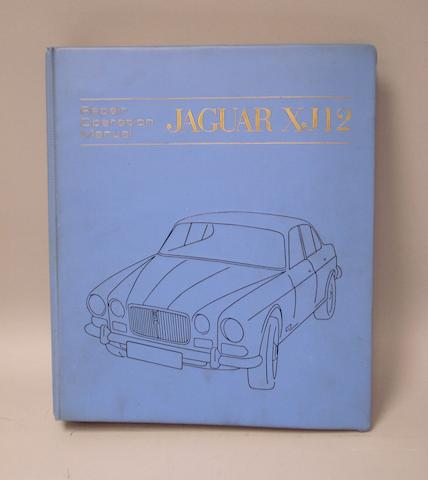 A repair operation manual for a Jaguar XJ 12,