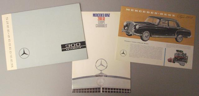 Three Mercedes Benz sales brochures,