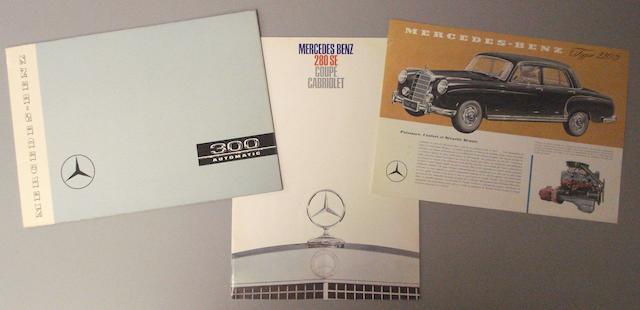 Three Mercedes Benz sales brochures,