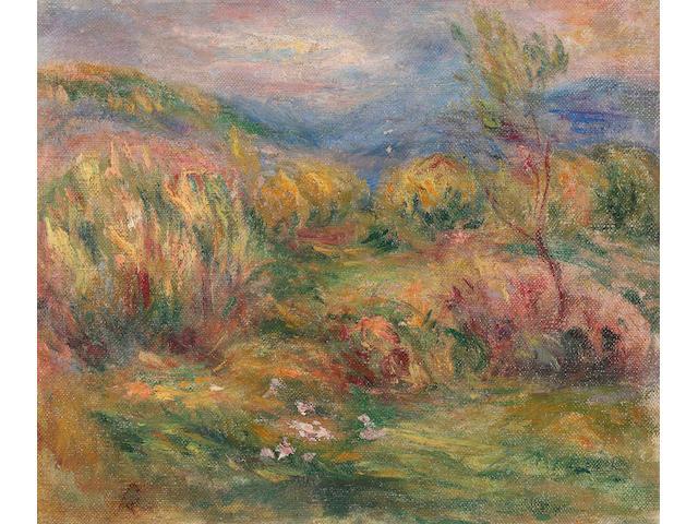 Pierre-Auguste Renoir (French, 1841-1919) Paysage arboré