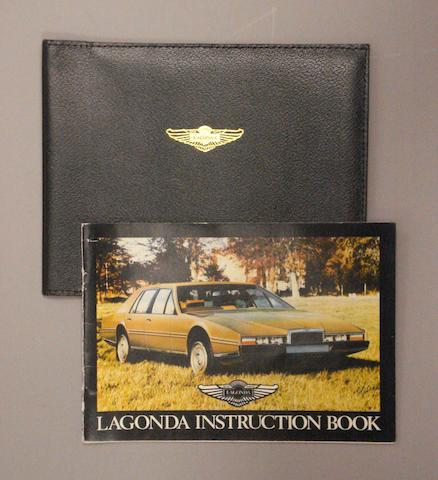 An Aston martin Lagonda instruction booklet,