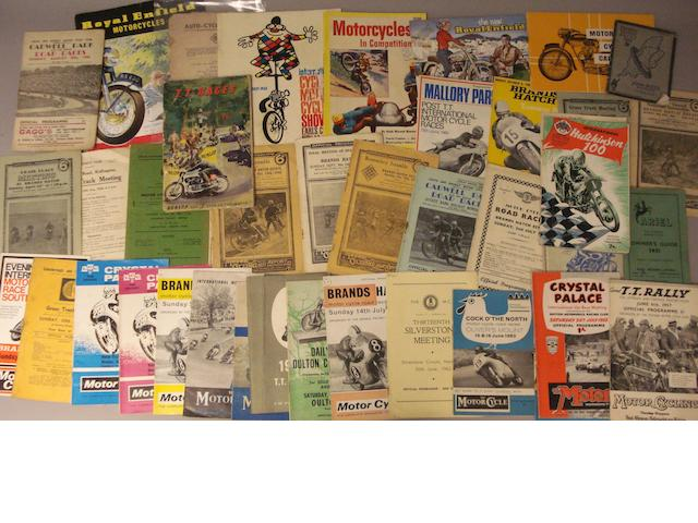 A lot of motorcycle event programmes and brochures,