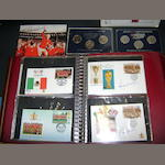 World Cup masterfile series first day covers, stamps and coins