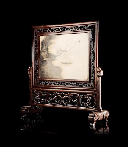 A 'Dream Stone' table screen Circa 1800