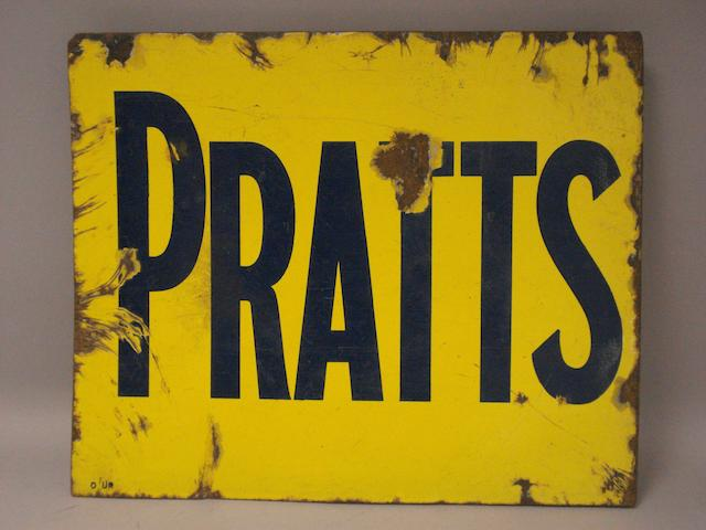 A Pratts enamel sign,