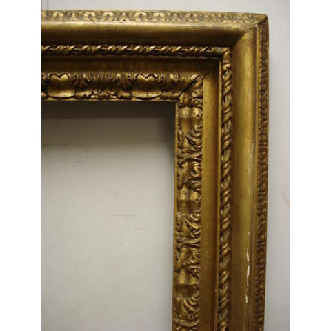 A pair of English 18th Century carved and gilded Carlo Maratta frames