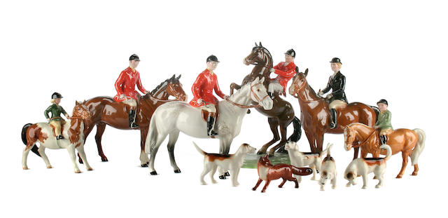 Figurines A Beswick Hunting group