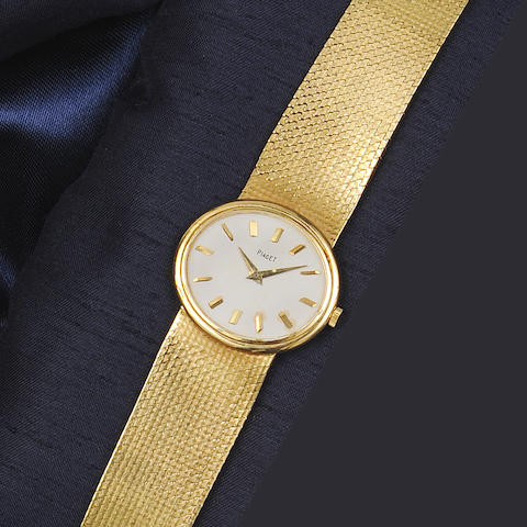 Piaget: A lady's 18ct gold wristwatch