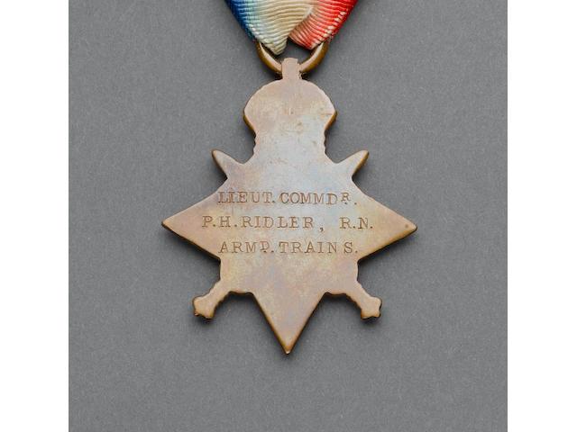 Three to Commander P.H.Ridler, Royal Navy,