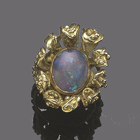 An opal dress ring, by Ingeborg Bratman,