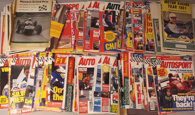 A quantity of mainly 1990s AutoSport magazines,