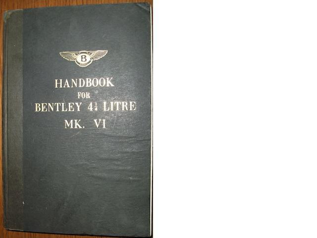 A Bentley MK 6 4½ Litre handbook,